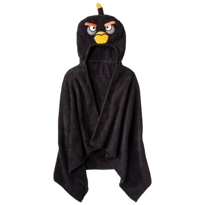 "Angry Birds Hooded Towel - Black (23x51"")"
