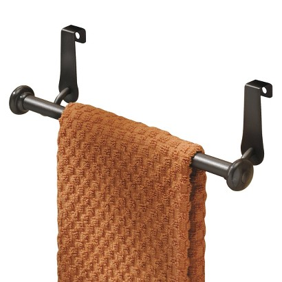 InterDesign York Over-The-Cabinet Towel Bar Bronze