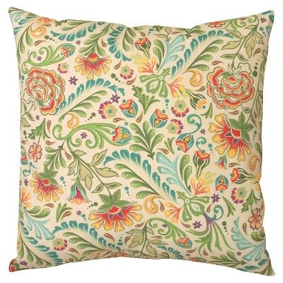 Floral Weather Resistant Decorative Pillow