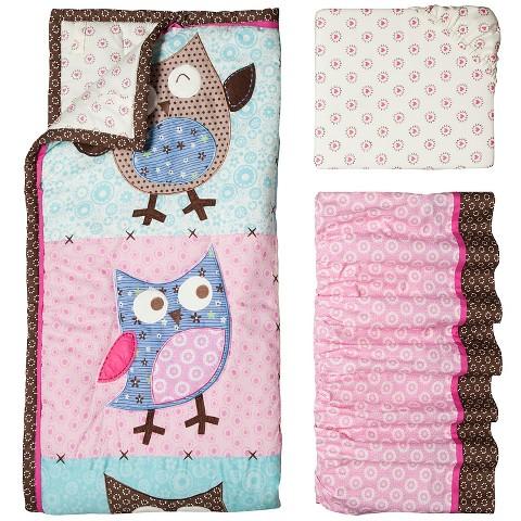 Bananafish 3-Piece Crib Set - Calico Owls
