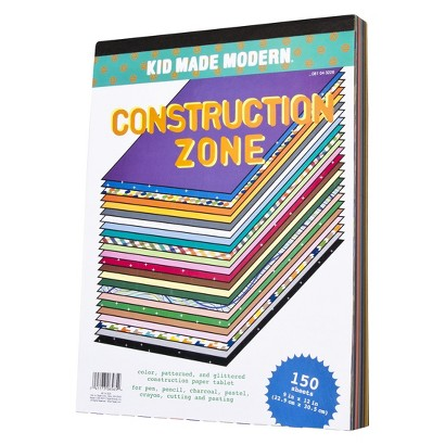 Kid Made Modern 150ct Construction Zone Paper Pad