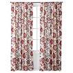 "Mudhut™ Suzani Vine Curtain Panel - Red (55x84"")"