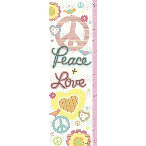 Oopsy Daisy too Peace Girl Growth Chart - 13x39""