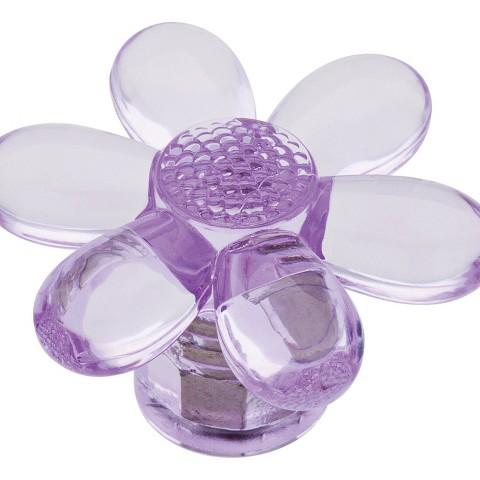 Threshold™ 4-Pack Acrylic Flower Knob - Lavender Transparent