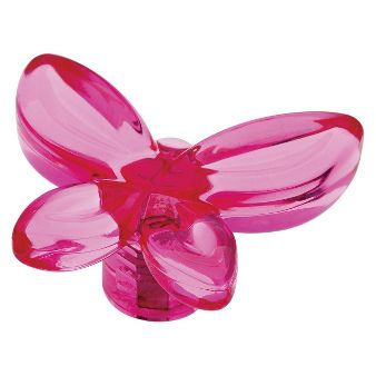 threshold 4 pack acrylic butterfly knob hot pink