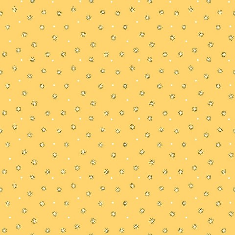 Floral Dot Ditsy Wallpaper - Yellow