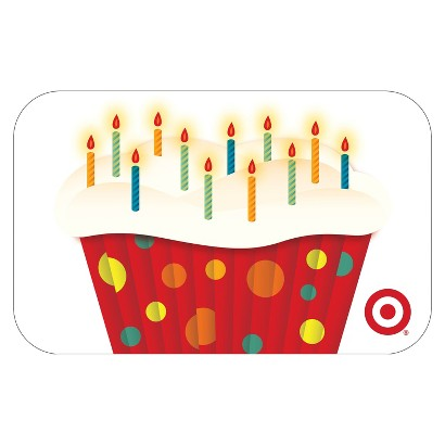 Cupcake with Candles GiftCard