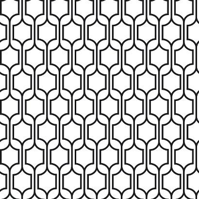 Trellis Wallpaper - Black/White