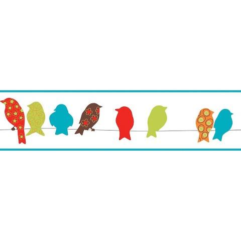 Bird On A Wire Border - Multicolored