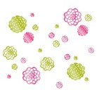 Lot 26 Mirrored Garden Blooms Wall Decals