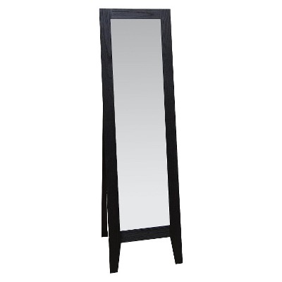 Modern Wood Look Easel Mirror - Black