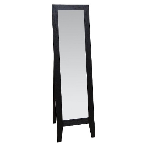 Modern Wood Look Easel Mirror - Black