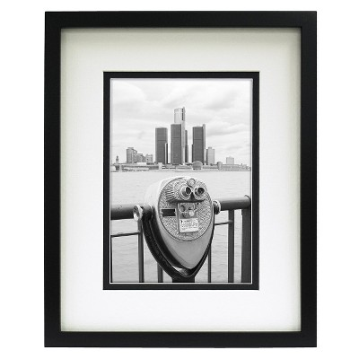 "Double Matted Linear Frame Black 5""x7"" - Room Essentials™"