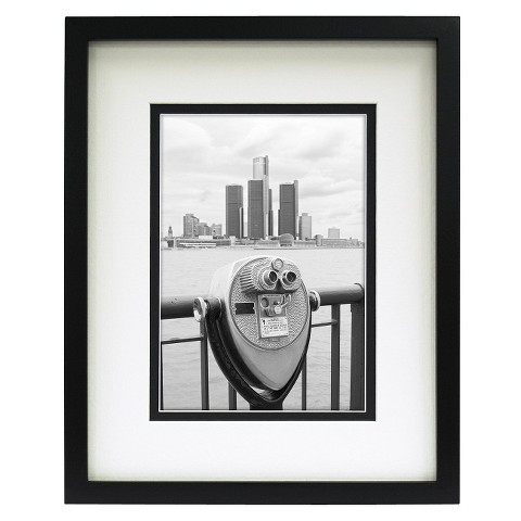 Room Essentials™ Double Matted Linear Frame - Black 5x7