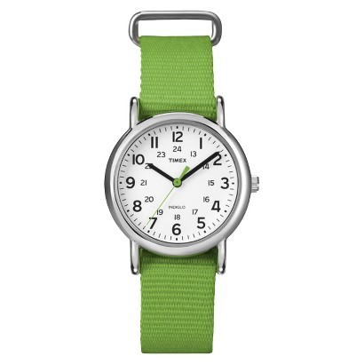 Women's Timex Weekender™ Mid-Size Slip Thru 18mm Strap Watch - Green - T2N835TE