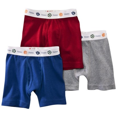 Hanes® Toddler Boys 3 Pack Boxer Brief - Assorted Colors
