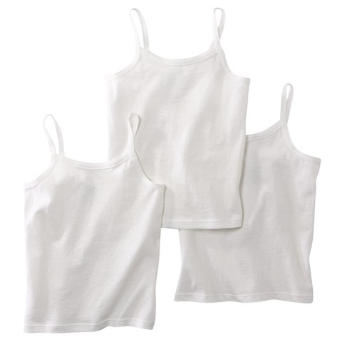 Hanes® Toddler Girls 3 Pack Cami - White