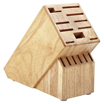 Hampton Forge 16 Piece Wood Knife Storage Block - Brown