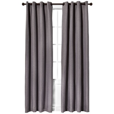 "Eclipse™ Light Blocking Fairfax Thermaweave Curtain Panel - Gray (52x84"")"