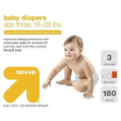 up&up™ Baby Diapers - Bulk Pack (Select Size)