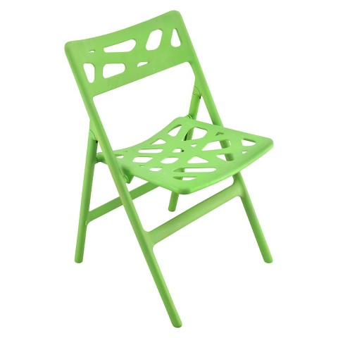 Cyclone Indoor/Outdoor Folding Chair - Green (Set of 2)