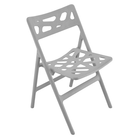 Cyclone Indoor/Outdoor Folding Chair - Gray (Set of 2)
