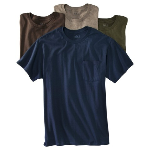 Fruit of the Loom® Men's 4 pack Pocket Tee - Assorted Colors
