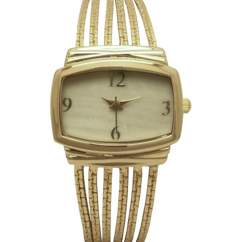 Merona® Chain Rectangle Case Watch - Gold