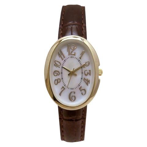 Merona® Croco Strap Case Watch - Brown