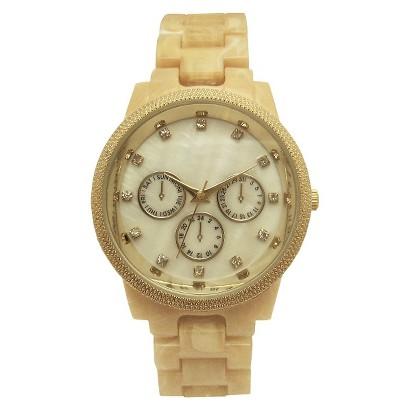 Merona® Bracelet Round Case Watch - Bone
