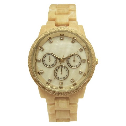 Merona® Bracelet Round Case Watch - Bone