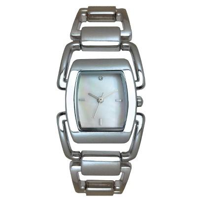Merona® Open Link Rectangle Case Watch - Silver