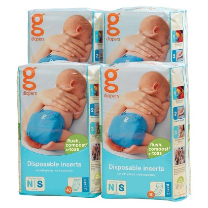 gDiapers Disposable Inserts - Sizes S,M-L