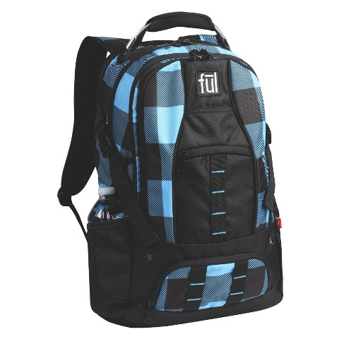 FUL Checkered Backpack - Blue/Black