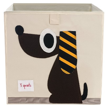 3 Sprouts Fabric Cube - Dog