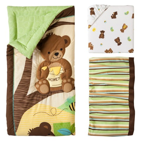 Lambs & Ivy 3pc Bedding Set - Honey Bear