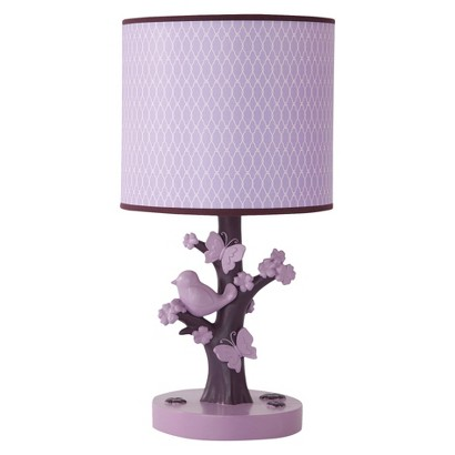 Lambs & Ivy Plumberry Lamp with Shade and Bulb