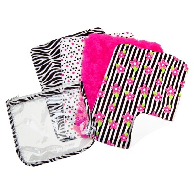 Trend Lab 5 Pc. Burp Cloth and Pouch Set - Zebra