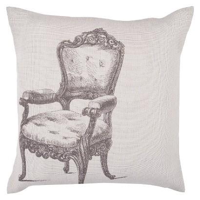 "Throne Toss Pillow - Ivory (18x18"")"