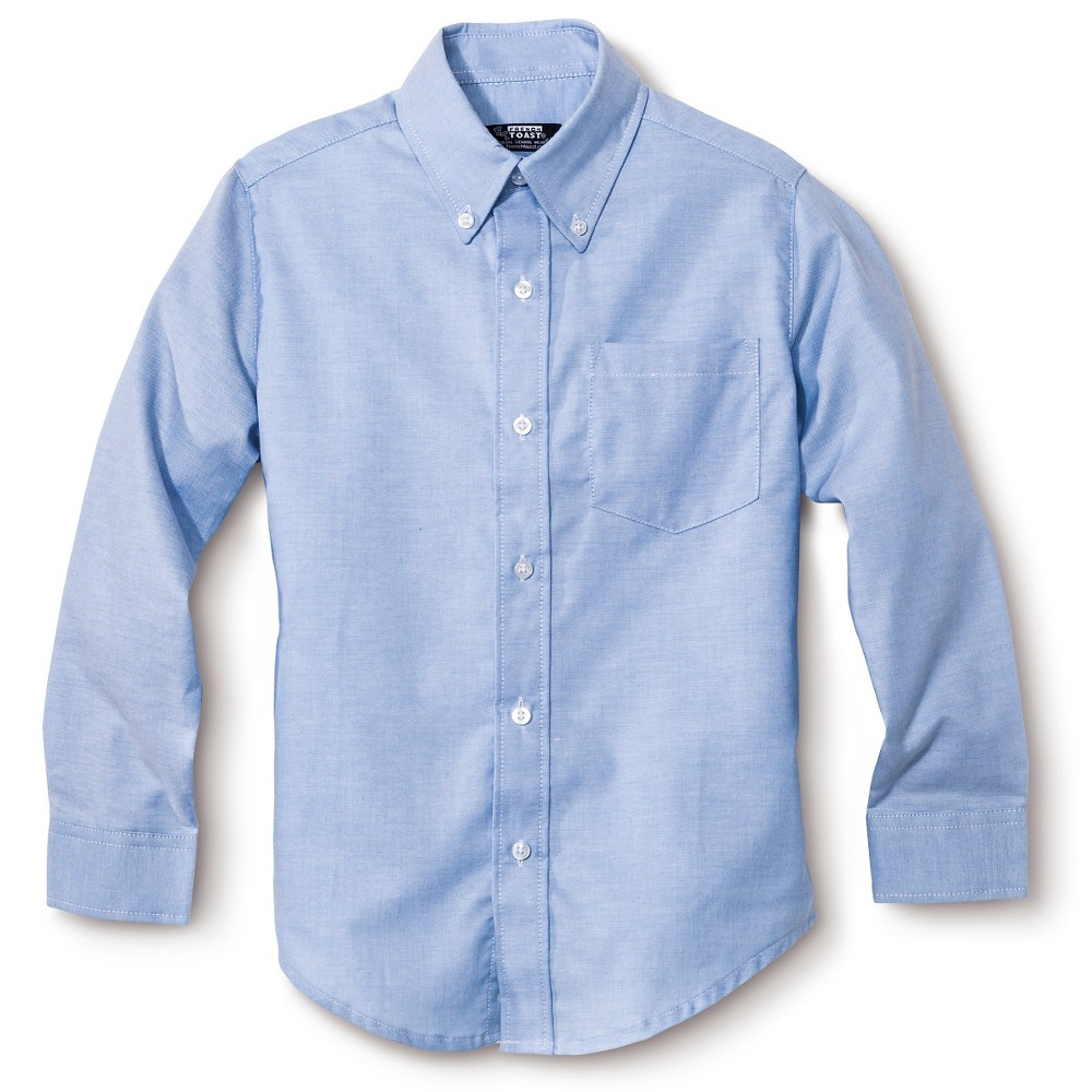French toast boys 39 long sleeve oxford shirt for French blue oxford shirt