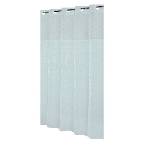 Mystery Hookless Shower Curtain - White