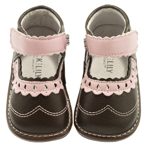 Jack and Lily Infant Girls Saddle Shoes - Brown/Pink