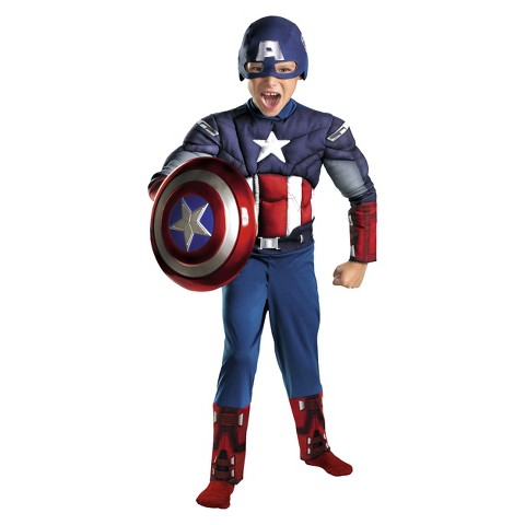 Boy's Captain America Avengers Classic Muscle Costume