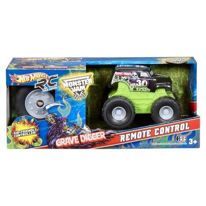 Hot Wheels Radio Control Monster Jam Grave Digger Mini Ride