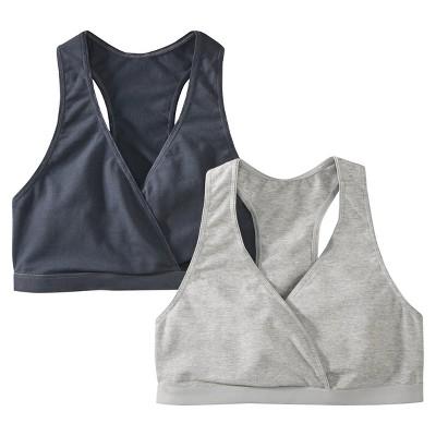 Women's Nursing Sleep Bra Bankers Grey 2-Pack - Gilligan & O'Malley®