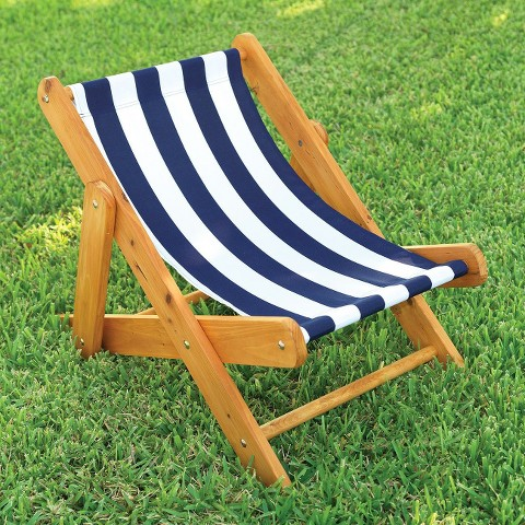 KidKraft Outdoor Sling Chair with Navy Stripe Fabric