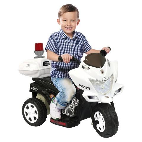 Kid Motorz Lil Patrol 6V Ride On - Black/ White