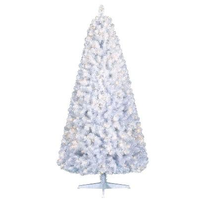 7' Prelit White Glacier Pine Christmas Tree - Clear lights