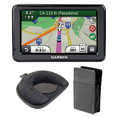 Garmin GPS Bundle with Maps, Traffic, Mount, and Case - 5 Inch (Nuvi2495LMT Kit)