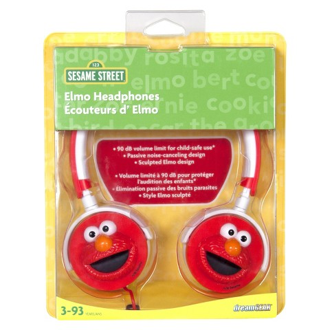 iSound Sesame Street 3D Elmo Headphones - Red (DGUN-2742)